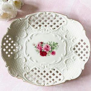 Baum Bros • Floral Reticulated Platter